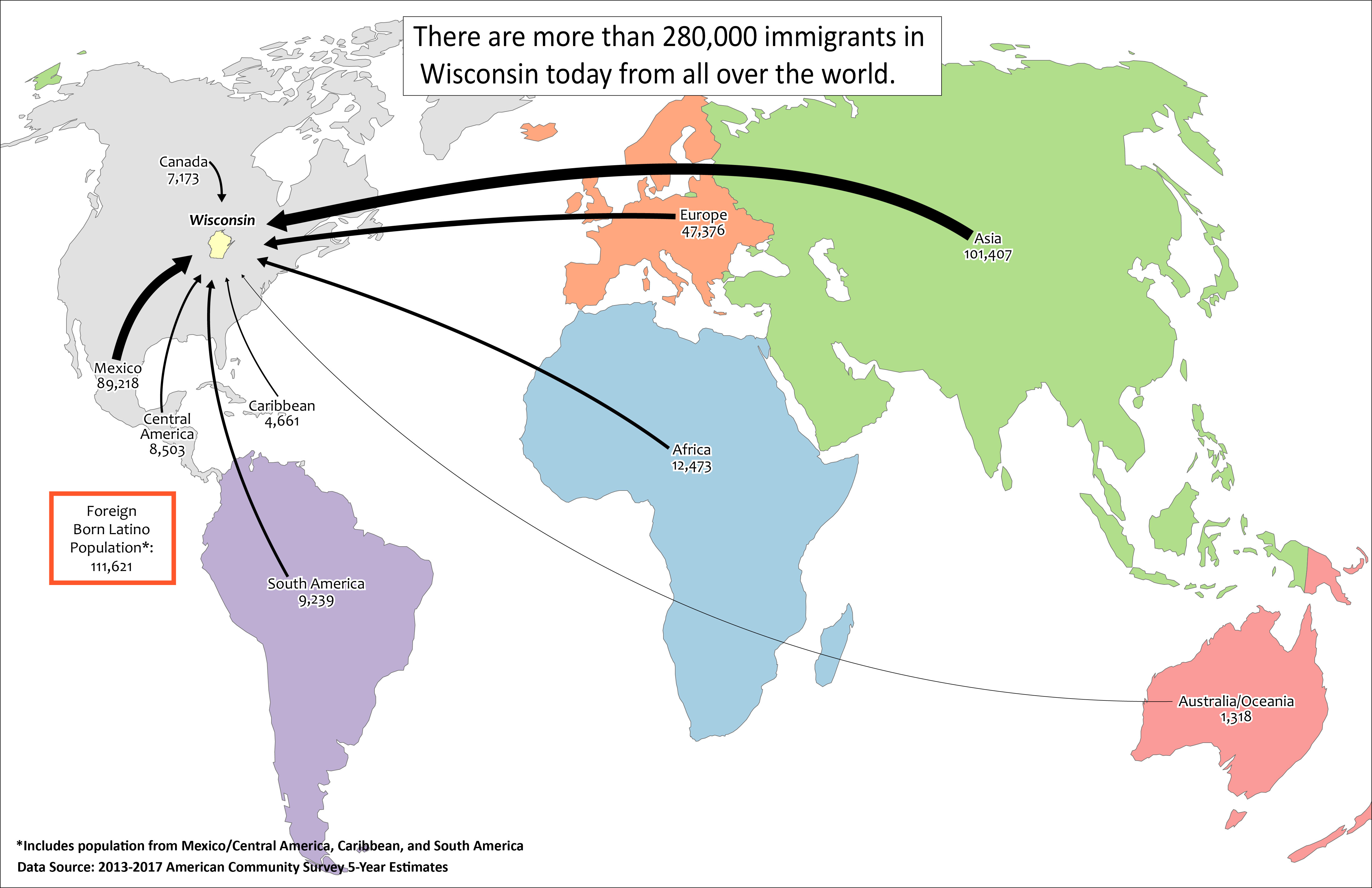 Global Migration to Wisconsin